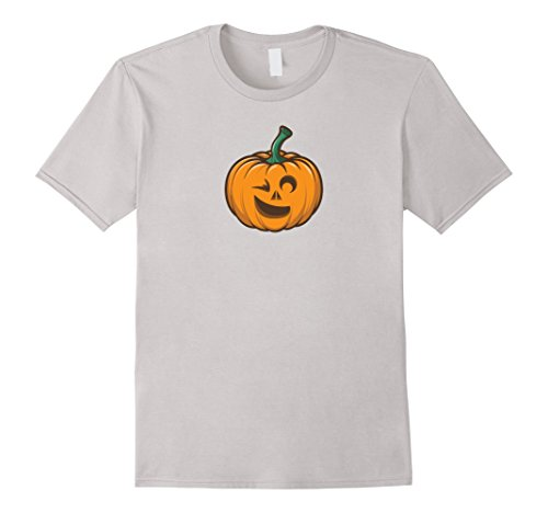 Winking Emoji Costume (Mens Pumpkin Winking Emoji Halloween Costume T-Shirt 2XL)