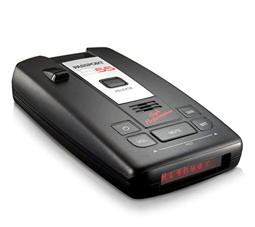 Escort Passport S55 High Performance Pro Radar and Laser Detector with Dsp (High-Intensity Red Display) (Best Radar Detector For The Money)