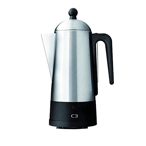 C3 30 –  32001 Design Perkolator 2 –  6 tazze, acciaio inox spazzolato, Eco 30-32001