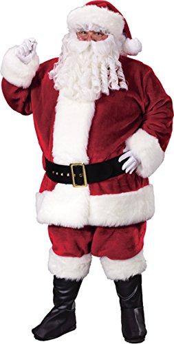 Fun World Morris Costumes Santa Suit Prem Plsh Crimsn
