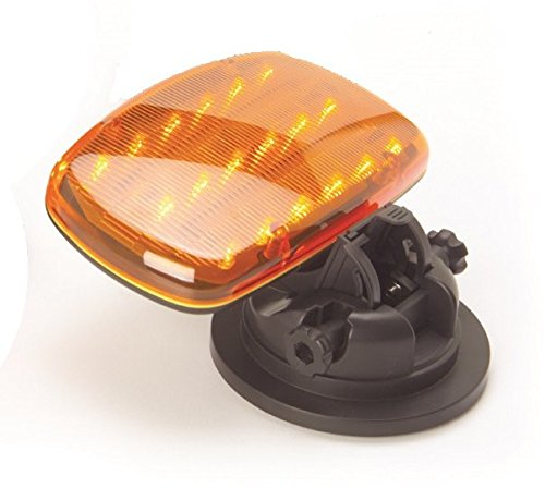 Battery Operated Amber Safety Flasher with Adjustable Magnetic Base