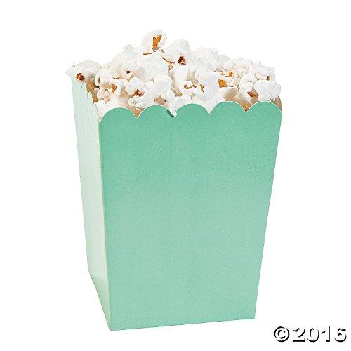 Mini Mint Green Popcorn Boxes 24 Pack