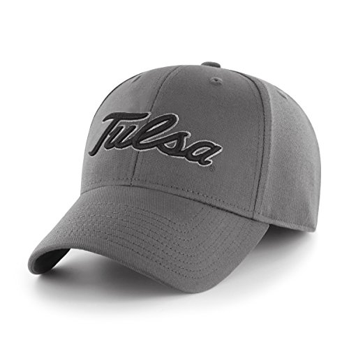 (NCAA Tulsa Golden Hurricane Comer OTS Center Stretch Fit Hat, Charcoal, Large/X-Large)