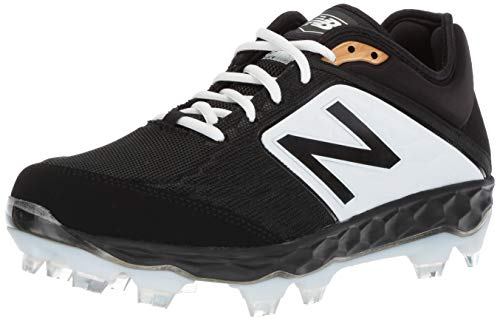 New Balance Men's 3000v4 Baseball Shoe, Black/White, 9 D ()