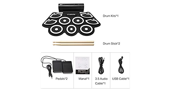 Monllack USB-E-Drum MD760 - Kit de batería Digital USB (Plegable y ...