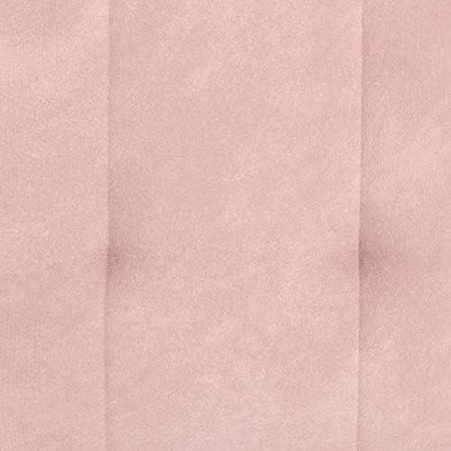 DHP Emily Futon With Chrome Legs, Pink Velvet