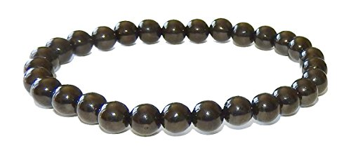 SunnyCrystals 8mm Black Tourmaline Bracelet Grade A Natural Gemstone Handcrafted Jewelry BTB8MM01