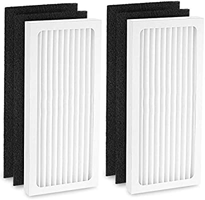 Cabiclean 2 HEPA with 2 Carbon Filter Compatible with Hamilton Beach 04383 Air Purifier 04384 04385 HEPA Filter Replacement Part # 990051000