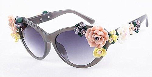 sol Gafas sol Mujeres QQB Gafas Color 6 de Barroco Rosas Flores sol Moda X521 de gafas 6 de Gafas YFqqX6S7