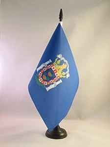 AZ FLAG Bandera de Mesa de Melilla 21x14cm - BANDERINA de DESPACHO ...