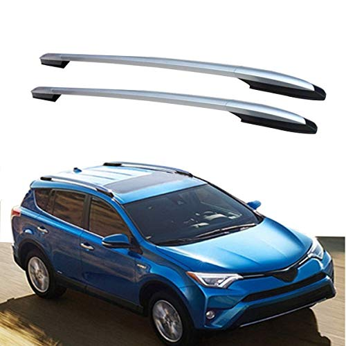 MotorFansClub Full Aluminium Roof Rack Rails Bars Luggage Carrier for RAV4 2013-2018