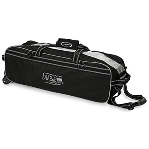 Storm Tournament 3 Ball Tote Roller Bowling Bag- No Pockets- Black ()