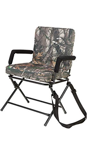 Allen Company 360° Swivel Chair - Silent Operation - Padded Hunting Chair with Arms - Strong Steel Legs - Next G2-15H x 18W x 15H inches - Camo