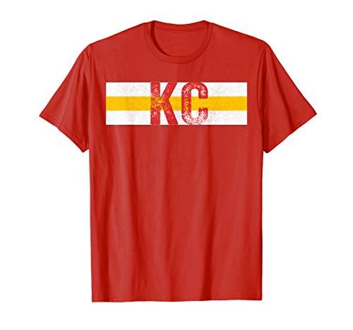 KC Football Tomahawk Red w/ Kansas City Vintage Pro Stripes ()