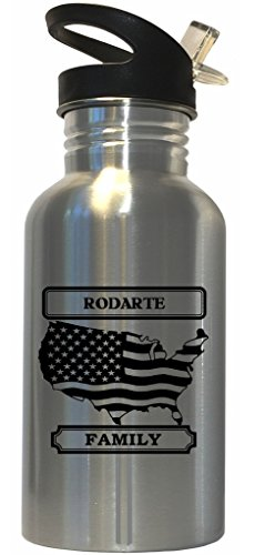 rodarte-family-name-american-flag-stainless-steel-water-bottle-straw-top