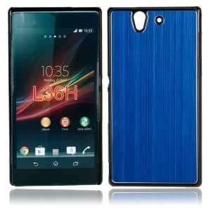 Metal Drawing Protective Case for Sony L36H Dark Blue