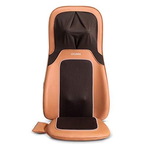 (Back Massagers Massage Cushion Cervical Massager Home Automatic Kneading Massage Pad Luxury Massager Adjustable Massage Pillow Give Parents The Best Gift (Color : Brown, Size : 423775cm))
