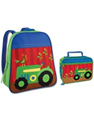 Stephen Joseph Boys Tractor Backpack and Lunch Box - Kids Bags