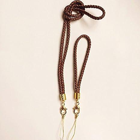 Amazon.com: 2 piezas cordón trenzado Lanyard Llavero con ...