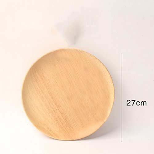 Wooden fruit plate tray Round plate Bread Snack plate Candy plate-F (Round Compote)