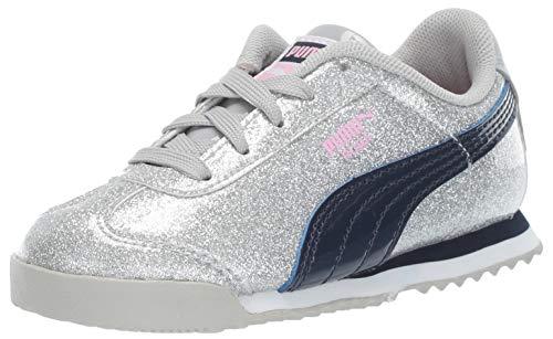 PUMA Girls' Roma Sneaker Gray Violet-Peacoat 12.5 M US Little Kid]()