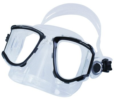 4 Lens Panoramic Purge Mask (ScubaMax Panoramic 4 Window Purge Dive Mask Scuba Snorkeling)
