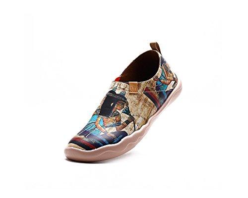 Comfortable De Cuir Bateaux Chaussures Femme La Égyptienne Multicolore Uin wxFzZO0qx