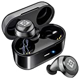 Wireless Earbuds 【Upgraded Graphene 3D Stereo Sound】 Bluetooth 5.0 with 28Hr Play Time Noise Cancelling HonShoop Lightweight Bluetooth Headphones Built-in Mic (Black)