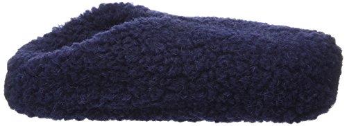 Woolsies Hedgehog Natural Wool Mule Slippers Unisex-Erwachsene Hausschuhe Blau (Marineblau)
