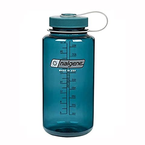 Nalgene Tritan Wide Mouth BPA-Free Water Bottle, Cadet W/ Cadet Cap, 32oz - Nalgene Lid