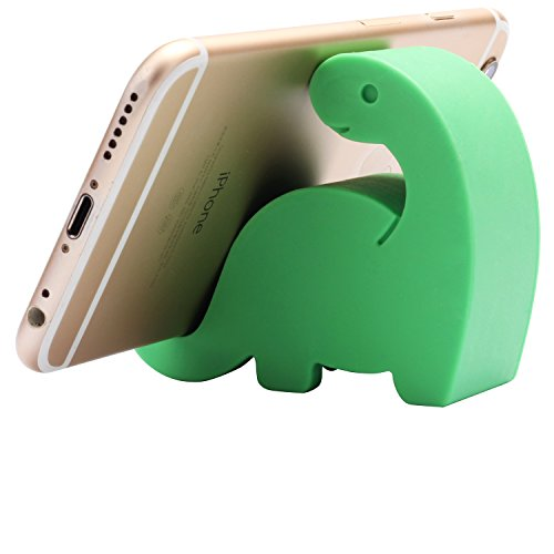 Comix Mini Dinosaur Shape Cute Cell Phone Mounts Candy Color Creative Ipad Set Material of Silica Ge, Size:2.4