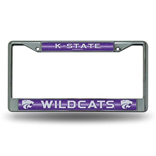 NCAA Kansas State Wildcats Bling Chrome Plate (Wildcats Glitter)