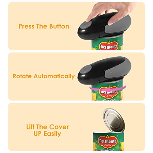 Restaurant Can Opener W-Dragon Electric Can Opener Chefs Best Choice Automatic Hands Free Can Opener Full