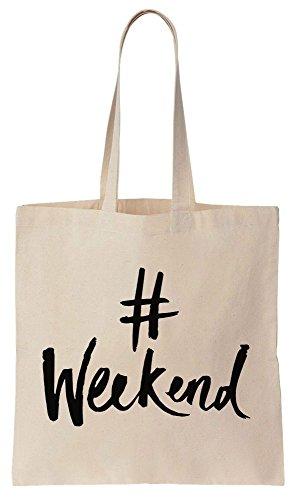 #Weekend Sacchetto di cotone tela di canapa