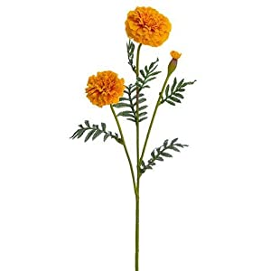 "Orange Marigold Artificial Flowers - 24.5"" Tall 20"