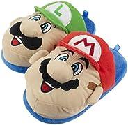 Super Mario Brothers Mario and Luigi Slippers for Kids, Nintendo, Scuff Clog Slip on, Little Kid/Big Kid Sizes