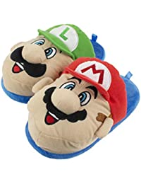 Brothers Mario and Luigi Slippers for Kids, Nintendo, Scuff Clog Slip on, Little Kid/Big Kid Sizes 11 to 5