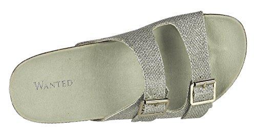 Cujo Wanted Silver Sandal Women Shoes UxRqFE