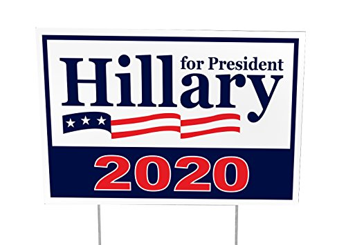 Hillary Clinton For President 2020 Outdoor Yard Sign - 12x18 - Imagine This Company