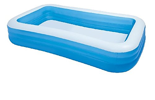 Giant Inflatable Kiddie Pool - Family and Kids Inflatable Rectangular Pool -...
