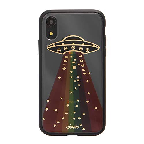 Sonix, Give Me Space, Spaceship Cell Phone Case Military Drop Test Certified Protective Clear Case for Apple iPhone XR