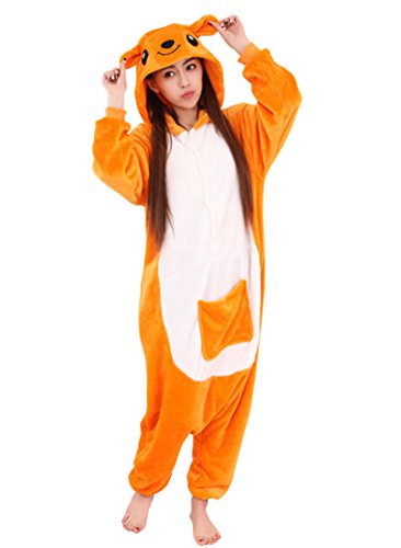 [Adstry Cosplay Kigurumi Pajamas Sleepwear Costume Homewear 4-54 Kangaroo XL] (Kangaroo Costume Rental)