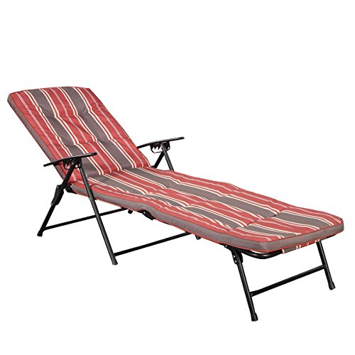 new-red-white-stripe-folding-lounger-patio-outdoor-chaise-cushions-pool-side-recline