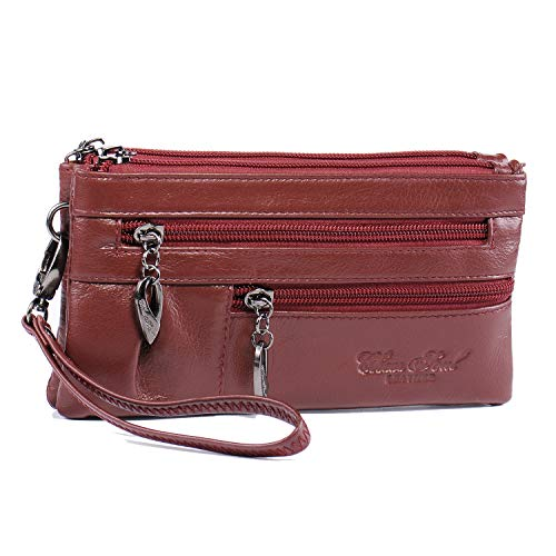 Just Fab Purses - Crossbody Wristlet Genuine Leather Purse for