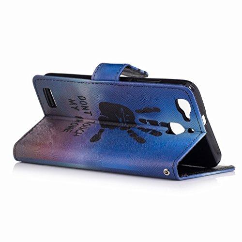Yiizy Huawei Enjoy 5s / Huawei GR3 Funda, Fresco A Mano Diseño Solapa Flip Billetera Carcasa Tapa Estuches Premium PU Cuero Cover Cáscara Bumper Protector Slim Piel Shell Case Stand Ranura para Tarjet