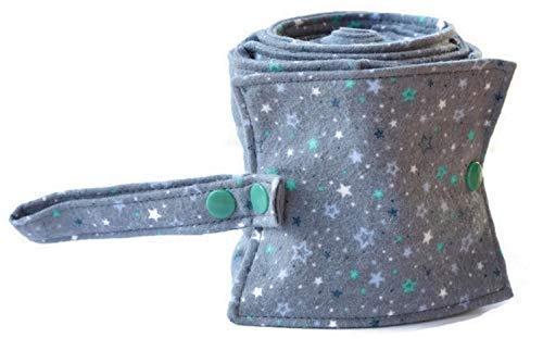 Papier toilette lavable gris avec des étoiles - rouleau 20 feuilles