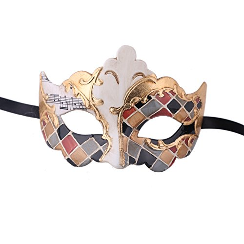 Xvevina Luxury Mask Assorted Venetian Party Mask Multicolored (Gold Multicolored) (Luxury Costumes)