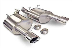"""CORSA 14316 Sport Stainless Steel Axle-Back Exhaust System Kit with 4"""" Pro-Series Tips for Ford Mustang GT 5.0L /Boss 302/Laguna Seca"""