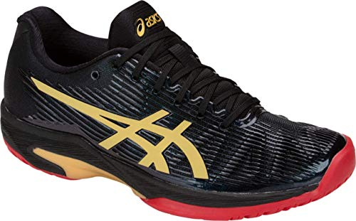 ASICS Solution Speed FF L.E. Women's Tennis Shoe, Black/Rich Gold, 8 M US