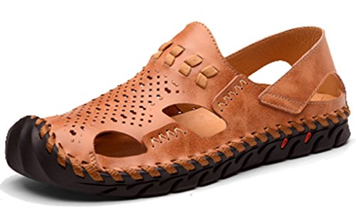 5 Brown Femaroly EU Weave Sandali Uomo 39 7w7T8